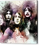 Deep Purple.rock Stars Acrylic Print