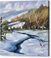 Deep Snow Acrylic Print