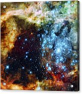 Deep Space Fire And Ice 2 Acrylic Print