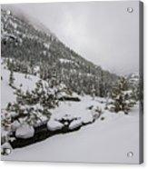 Deep Winter River Acrylic Print