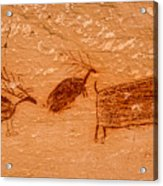 Deer And Bison Pictograph - Horseshoe Canyon - Utah Acrylic Print