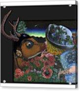 Deer And Girl Acrylic Print