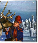 Deer Friends Of Finland Acrylic Print