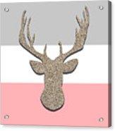 Deer Head Silhouette Acrylic Print