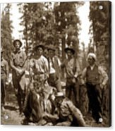 Deer Hunters  With Rifles Circa 1917 Acrylic Print
