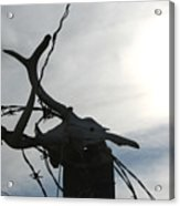Deer Skull In Wire Acrylic Print