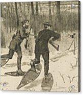 Deer-stalking In The Adirondacks In Winter Acrylic Print