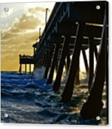 Deerfield Beach Pier At Sunrise Acrylic Print
