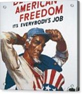 Defend American Freedom Acrylic Print