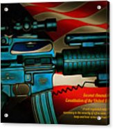 Defender Of Freedom - 2nd Ammendment Acrylic Print
