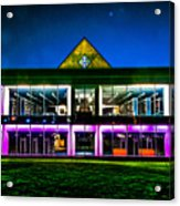 Defiance College Library Night View Acrylic Print