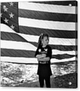 Defiant Girl Desert Storm Troops Welcome Home Celebration Ft. Lowell Tucson Arizona 1991 Acrylic Print