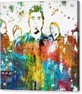 Deftones Paint Splatter Acrylic Print