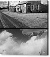 Defunct Country Taverns On North Dakota Prairie Composite Vertic Acrylic Print