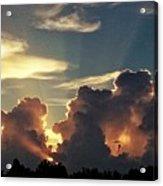 Degas Clouds #2 On Florida Sky Acrylic Print