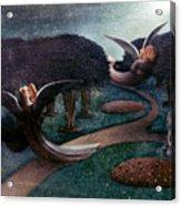 Degouve: Angels, 1894 Acrylic Print