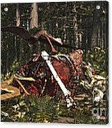 Deinonychus & Coloborhynchus Birds Feed Acrylic Print