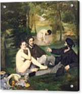 Dejeuner Sur L Herbe Acrylic Print by Edouard Manet