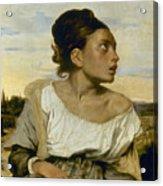 Delacroix: Orphan, 1824 Acrylic Print by Granger