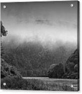 Delaware Water Gap Clouds Set In Acrylic Print