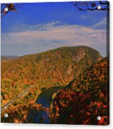 Delaware Water Gap In The Fall Acrylic Print