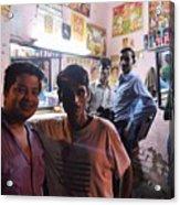 Delhi Barbershop Acrylic Print