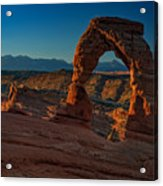 Delicate Arch At Sunrise Acrylic Print