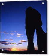 Delicate Arch At Twilight Acrylic Print