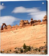 Delicate Arch Famous Landmark In Arches National Park Utah Acrylic Print