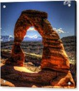 Delicate Arch Framing La Sal Mountains Acrylic Print
