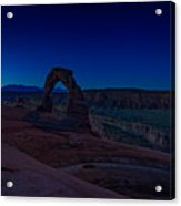 Delicate Arch In The Blue Hour Acrylic Print