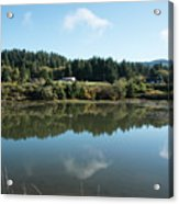 Delicate Clouds Reflected Acrylic Print