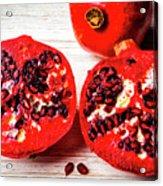 Delicious Pomegranate Acrylic Print