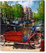 Delivery Bike Acrylic Print