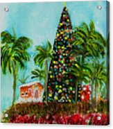 Delray Beach Christmas Tree Acrylic Print