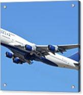 Delta Boeing 747-451 N667us Phoenix Sky Harbor October 7 2017  Acrylic Print