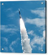 Delta Rocket From Cape Canaveral In Florida Acrylic Print