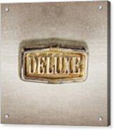 Deluxe Chrome Emblem Acrylic Print