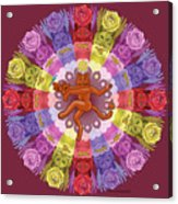 Deluxe Tribute To Tuko - Maroon Background Acrylic Print