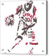 Demar Derozan Toronto Raptors Pixel Art 7 Acrylic Print