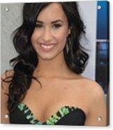 Demi Lovato Wearing A Bcbg Max Azria Acrylic Print by Everett