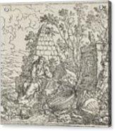 Democritus Mediterend, Jonas Umbach, 1634 - 1693 Acrylic Print