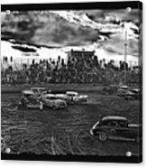Demolition Derby Rain Storm Clouds #1 Tucson Arizona 1968 Acrylic Print