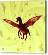 Demon Winged Horse Acrylic Print