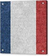 Denim France Flag Illustration Acrylic Print
