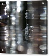 Denmark Abstract Of Glass Chess Set Acrylic Print