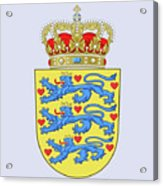 Denmark Coat Of Arms Acrylic Print