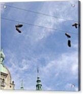 Denmark, Copenhagen, Amager Torv, Shoes Acrylic Print