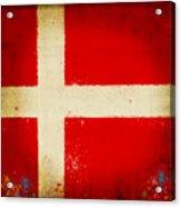 Denmark Flag Acrylic Print by Setsiri Silapasuwanchai