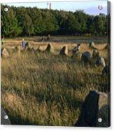 Denmark, Lindholm Hoeje Viking Burial Acrylic Print